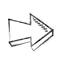 arrow direction orientation web button icon vector image