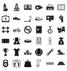 Basketball shoe icons set simple style vector