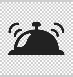 Bell icon in flat style alarm bell on isolated vector