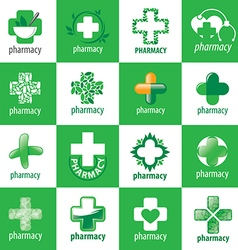 Biggest collection of logos for medicine vector