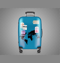 Blue bag isolated on transparent background vector
