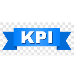 Blue stripe with kpi text vector