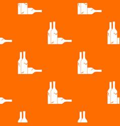 bottles pattern seamless vector image