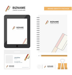 Butcher knife business logo tab app diary pvc vector