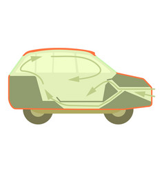 Car air ventilation icon cartoon style vector