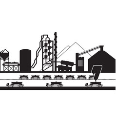 Cement production plant vector