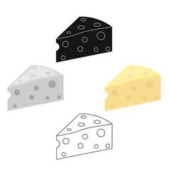 cheese icon cartoonblack single bio eco vector image