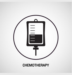 Chemotherapy medical logo icon design vector