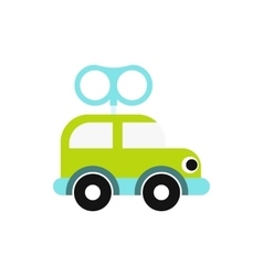 Clockwork toy car icon vector image