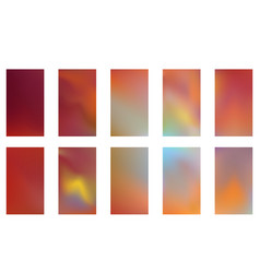 collection of abstract gradient mesh futuristic vector image