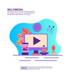 concept multimedia modern conceptual for vector image