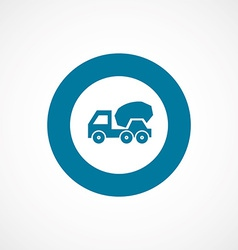 concrete mixer bold blue border circle icon vector image