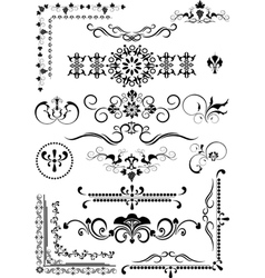 Corner and border and details of decoration vector image