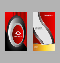 corporate business cards set vector image