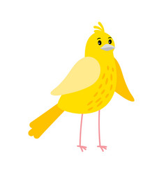 Cute cartoon canary bird icon vector