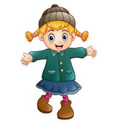 cute little girl wearing ha vector image