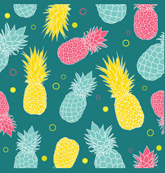 dark green summer colorful tropical vector image