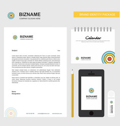 dart business letterhead calendar 2019 and mobile vector image