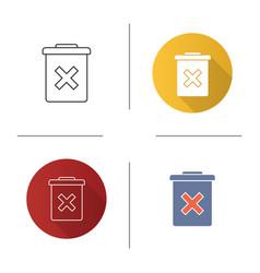 Delete forever button icon vector
