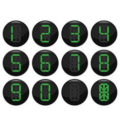 digital number icons vector image