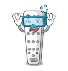Diving cartoon infrared remote control for tv vector