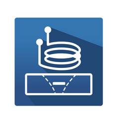Eddy current pictogram vector
