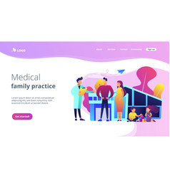 family doctor concept landing page vector image
