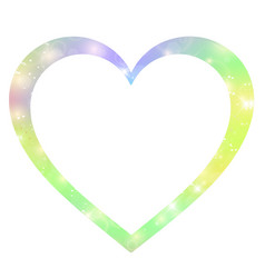 fantasy gradient hologram heart shaped border vector image