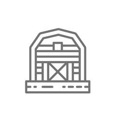 farm barn greenhouse countryside line icon vector image