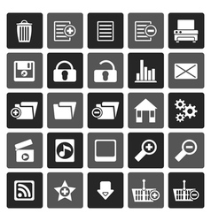 Flat 25 detailed internet icons vector