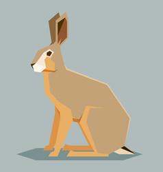 flat geometric hare vector image