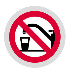 forbidden sign modern round sticker vector image