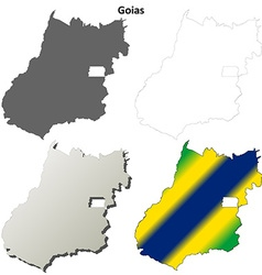 Goias blank outline map set vector image