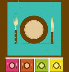 grunge restaurant banner set vector image