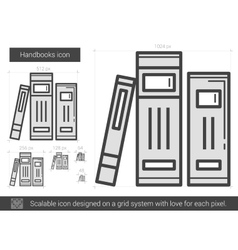 Handbooks line icon vector