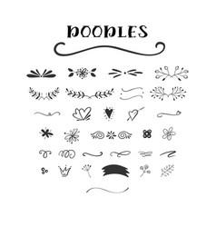 Handdrawn doodle set vector