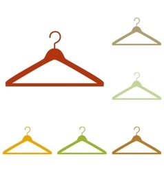 Hanger sign vector image
