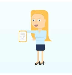 Happy businesswoman character smiling isolated in vector image