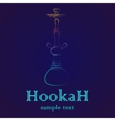 Hookah outline gradient vector