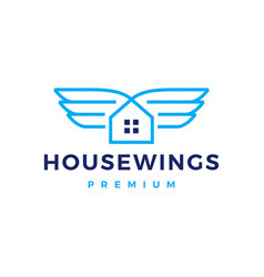 House home wing logo icon vector