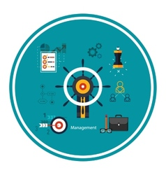 Icons for management concept vector
