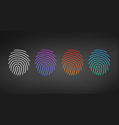 id app icon template set fingerprint set in vector image