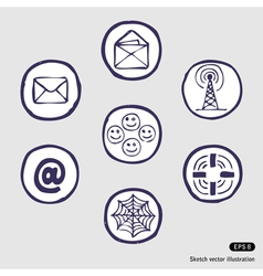 Internet devices icon set vector image