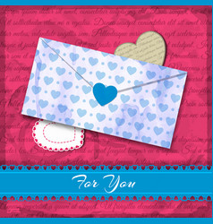 light blue heart pattern vector image