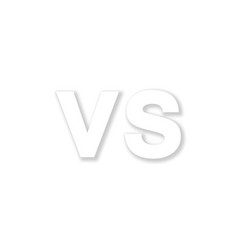 Logo vs white color with shadow stylish vector