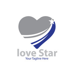 love star logo designs vector image