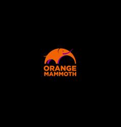 mammoth logo vector image