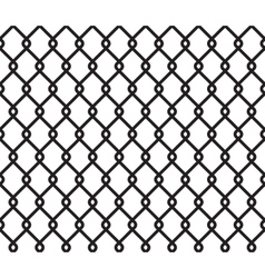 Metallic wired fence seamless pattern vector image vector image