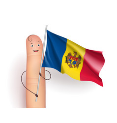 moldova waving flag vector image vector image