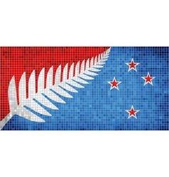 New Zealands new flag vector image